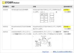 STORM Maker開発予定:最新情報