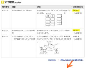 STORM Maker今後の開発予定:最新情報