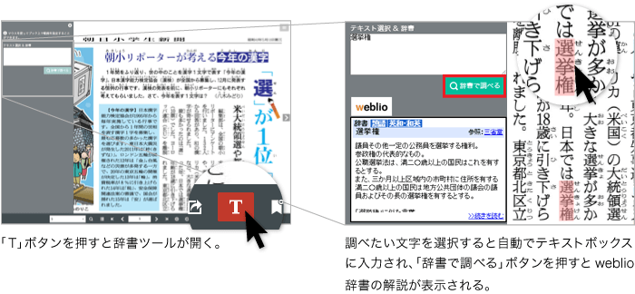 デジタルブックFLIPPER UにWeblio辞書を標準搭載